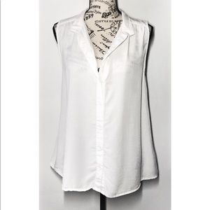 Anthropologie Cloth & Stone White Button Up Tank